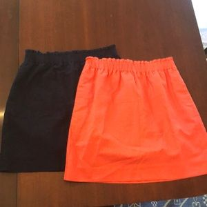 Lot of two J. Crew elastic waist skirts size 8
